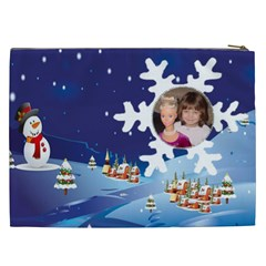 Winter Night Cosmetic Bag (xxl) By Kim Blair   Cosmetic Bag (xxl)   Llozmaz3mwft   Www Artscow Com Back