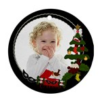 olivia ornament - Round Ornament (Two Sides)