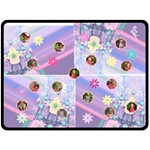 Flowers and Stripes XL Blanket - Fleece Blanket (Extra Large)