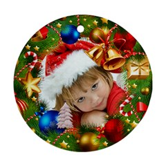 Christmas By Joanne5   Round Ornament (two Sides)   Zcetfg7lu1cr   Www Artscow Com Back