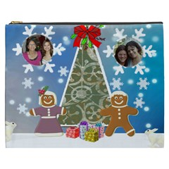 Gingerbread Couple With Tree Cosmetic Bag (xxxl) By Kim Blair   Cosmetic Bag (xxxl)   25tqnsltdsxh   Www Artscow Com Front