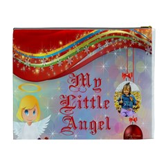 My Little Angel Cosmetic Bag (xl) By Kim Blair   Cosmetic Bag (xl)   81k0r03ih5ei   Www Artscow Com Back
