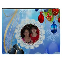 Snow Flakes And Ornament Cosmetic Bag (xxxl) By Kim Blair   Cosmetic Bag (xxxl)   Knce2rclw67f   Www Artscow Com Back