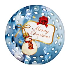 Christmas By Joanne5   Round Filigree Ornament (two Sides)   7wfi85p7puq2   Www Artscow Com Back