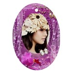 Pretty- purple - Oval Ornament (Two Sides)