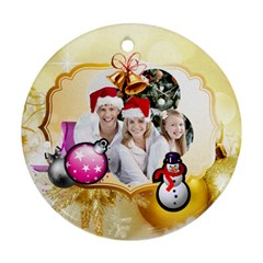 Christmas By Joanne5   Round Ornament (two Sides)   2t6gjdo3wd30   Www Artscow Com Back