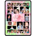 Pink Flower Grandchildren XL Blanket - Fleece Blanket (Extra Large)