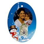 Blue  Mommy and Me ornament Oval - Ornament (Oval)