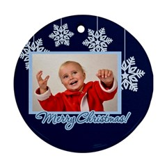 Merry Christmas By Man   Round Ornament (two Sides)   Zkggl1isq5l1   Www Artscow Com Back