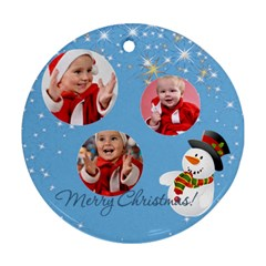 Merry Christmas By Man   Round Ornament (two Sides)   Xun31ejscjpr   Www Artscow Com Front