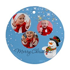 Merry Christmas By Man   Round Ornament (two Sides)   Xun31ejscjpr   Www Artscow Com Back