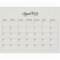 2013 Calendar Main By Odessa   Wall Calendar 11  X 8 5  (12 Months)   Scgac122c3fp   Www Artscow Com Aug 2013