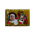 red and gold cosmetic bag medium - Cosmetic Bag (Medium)