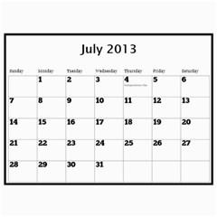 2013 Calendar By Megan Elliott   Wall Calendar 11  X 8 5  (12 Months)   5unuc9jw06i6   Www Artscow Com Jul 2013