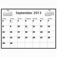 2013 Calendar By Megan Elliott   Wall Calendar 11  X 8 5  (12 Months)   5unuc9jw06i6   Www Artscow Com Sep 2013