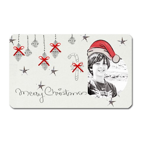 Magnet Rectangular  Christmas 03 By Deca   Magnet (rectangular)   7debcitw057l   Www Artscow Com Front