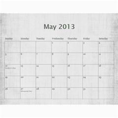 Sisters Calendar For Darlene By Debra Macv   Wall Calendar 11  X 8 5  (12 Months)   Djor62gnzq44   Www Artscow Com May 2013