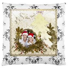 Christmas & Happy New Year By Joanne5   Large Cushion Case (two Sides)   Aom5zifclghx   Www Artscow Com Front