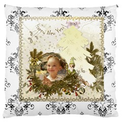 Christmas & Happy New Year By Joanne5   Large Cushion Case (two Sides)   Aom5zifclghx   Www Artscow Com Back