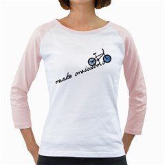 Tees Make Omissions White Long Sleeve Raglan Womens  T-shirt by uTees