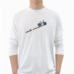 Tees Make Omissions White Long Sleeve Man''s T Shirt by uTees