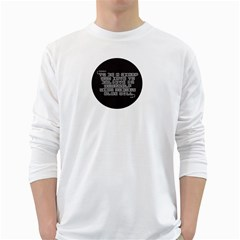 Teemazing White Long Sleeve Man''s T Shirt