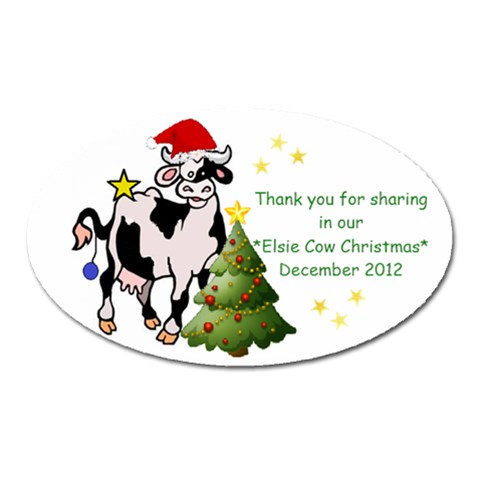 Christmas 2012 Magnet By Jessica Bonner   Magnet (oval)   1sa95108cyel   Www Artscow Com Front
