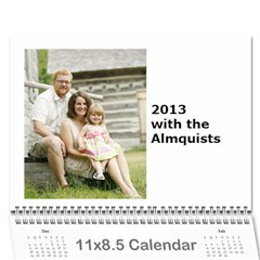 Christmas Calendar By Katie Almquist   Wall Calendar 11  X 8 5  (12 Months)   Np96w9lyhg1t   Www Artscow Com Cover