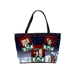 Snowmen Joy Classic Shoulder Bag 2 Sides By Kim Blair   Classic Shoulder Handbag   Y9941w1uv2po   Www Artscow Com Back