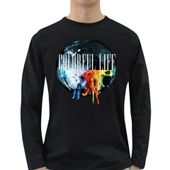 Tees Colorful Life Dark Colored Long Sleeve Mens'' T Shirt by uTees