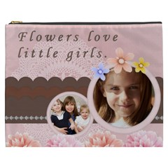 Flower By Joely   Cosmetic Bag (xxxl)   7qpv3h2buwz7   Www Artscow Com Front