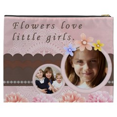 Flower By Joely   Cosmetic Bag (xxxl)   7qpv3h2buwz7   Www Artscow Com Back
