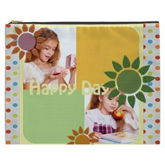 Happy Day By Joely   Cosmetic Bag (xxxl)   Wz8jwi12c2ir   Www Artscow Com Front