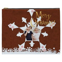 Merry Christmas By Joely   Cosmetic Bag (xxxl)   Tlskwabu1bys   Www Artscow Com Front