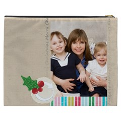 Merry Christmas By Joely   Cosmetic Bag (xxxl)   Sd0g0gj15fu5   Www Artscow Com Back