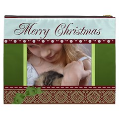 Merry Christmas By Joely   Cosmetic Bag (xxxl)   Aijcckntqvr3   Www Artscow Com Back