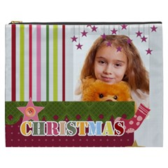 Merry Christmas By Joely   Cosmetic Bag (xxxl)   Am5tlqa9t3t0   Www Artscow Com Front