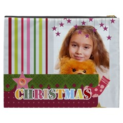 Merry Christmas By Joely   Cosmetic Bag (xxxl)   Am5tlqa9t3t0   Www Artscow Com Back