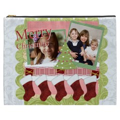 Merry Christmas By Joely   Cosmetic Bag (xxxl)   Mf0pa5jph1u0   Www Artscow Com Front
