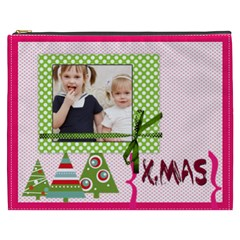Merry Christmas By Joely   Cosmetic Bag (xxxl)   Tmomtv25buac   Www Artscow Com Front
