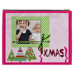 Merry Christmas By Joely   Cosmetic Bag (xxxl)   Tmomtv25buac   Www Artscow Com Back
