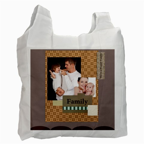 Family By Jo Jo   Recycle Bag (one Side)   9w7rza0xh1mk   Www Artscow Com Front