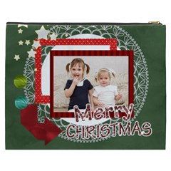 Merry Christmas By Joely   Cosmetic Bag (xxxl)   Num5qroytvcu   Www Artscow Com Back