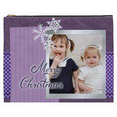 Merry Christmas By Joely   Cosmetic Bag (xxxl)   Ogfd0h7mg8ia   Www Artscow Com Front