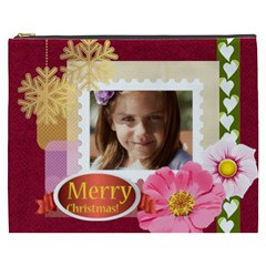 Merry Christmas By Joely   Cosmetic Bag (xxxl)   8rao7r77wu0r   Www Artscow Com Front