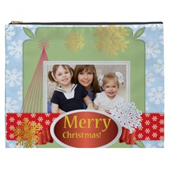 Merry Christmas By Joely   Cosmetic Bag (xxxl)   Bb4bit8y8w8t   Www Artscow Com Front