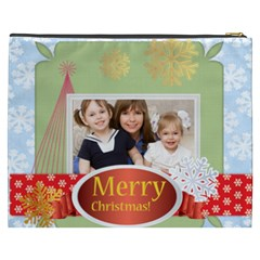 Merry Christmas By Joely   Cosmetic Bag (xxxl)   Bb4bit8y8w8t   Www Artscow Com Back