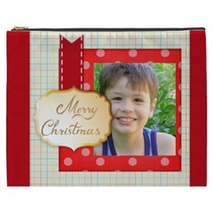 Merry Christmas By Joely   Cosmetic Bag (xxxl)   Ip1q2ol7xo3y   Www Artscow Com Front