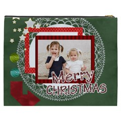 Merry Christmas By Joely   Cosmetic Bag (xxxl)   Kx34n2shxyki   Www Artscow Com Back