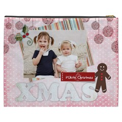 Merry Christmas By Joely   Cosmetic Bag (xxxl)   3jdbtqt3xmue   Www Artscow Com Back